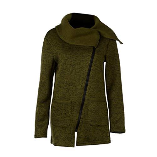Sweatshirt,Toimoth Women Winter Zipper Blouse Hoodie Hooded Sweatshirt Coat Jacket(Army Green,2XL) -
