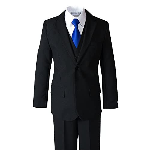 hot Spring Notion Big Boys' Modern Fit Dress Suit Set with Satin Tie for sale