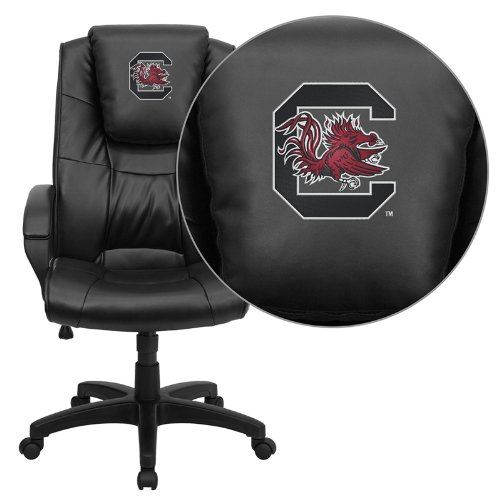 Flash Furniture South Carolina Gamecocks Embroidered Black Leather Executive Office Chair