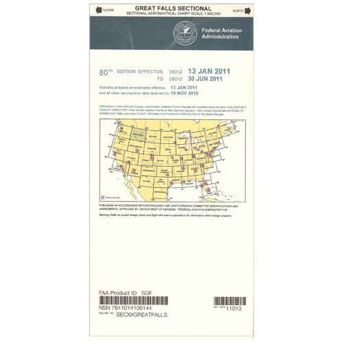 FAA Chart: VFR Sectional GREAT FALLS SGF (Current Edition)
