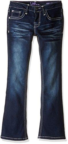 LEE Big Girls' Susan Heavy Stitch Boot Jean, Biker Blue, 10 - Contrast Stitch Jeans