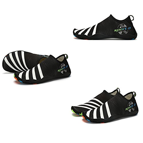 Slippers Womens Lightweight Mens Outdoor ASUGE Drying Shoes Black Swim Quick Shoes Aqua Socks Water Barefoot p45xO15q