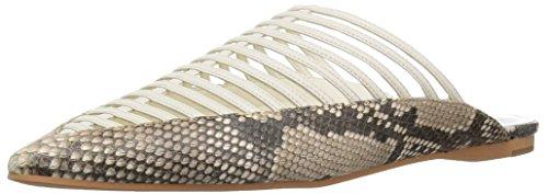 Dolce Vita Women's Kaori Mule, Off White Embossed Leather, 7.5 M US