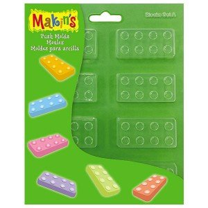 Makin'S Clay Push Molds-Blocks Set A ()