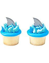24 ct. Shark Fin DecoPics Cupcake Picks