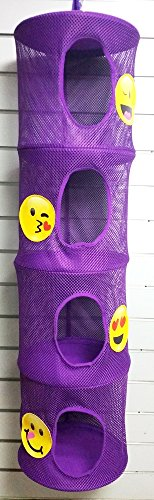 Bunk Junk Emoji Hanging Mesh Space Saver/ Organizer Suitable for Home, Sleepaway, College, Travel Camp, Sleep Away Camp