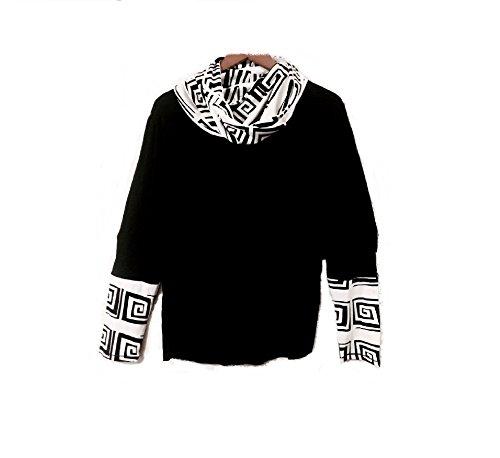 Patrizia Luca The Long Sleeve Removable Cowl Top, Black (Milano Long Sleeve Blouse)
