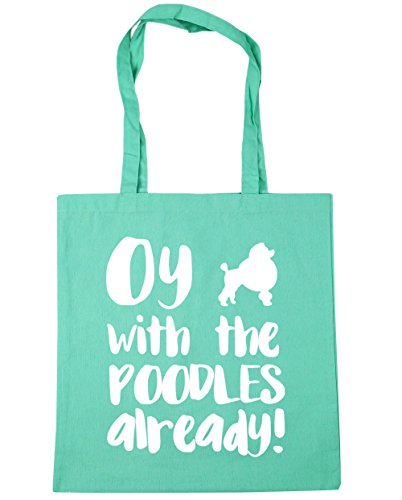 42cm with poodles litres Oy Gym already x38cm Tote Mint 10 Shopping the Beach Bag HippoWarehouse Rqavwv