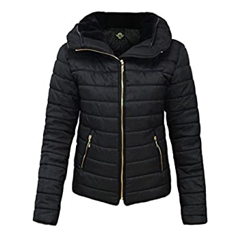 GLAM COUTURE NEW LADIES WOMENS QUILTED PADDED PUFFER BUBBLE FUR ...
