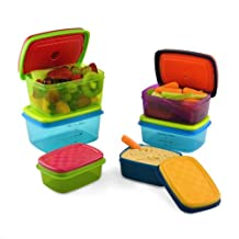 Fit & Fresh Kid's Value Lunch Container Set with Removable Ice Packs, 14-Piece