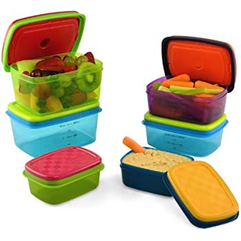 Slim snack lunch box snack bag and silicone for Decor 6 piece lunchbox