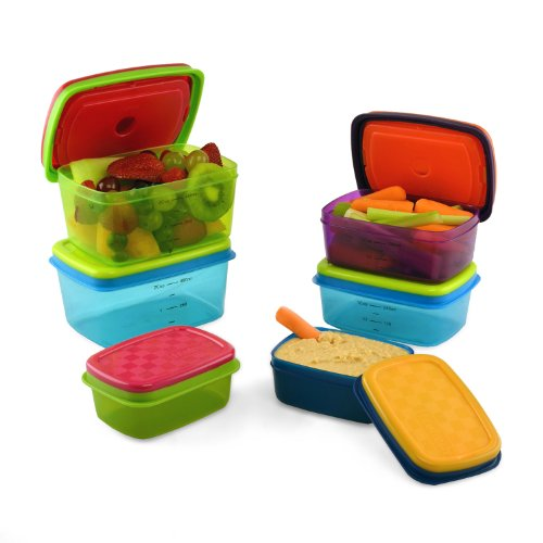 Fit & Fresh Kids Value Lunch Container Set with Removable Ice Packs- 14 Piece