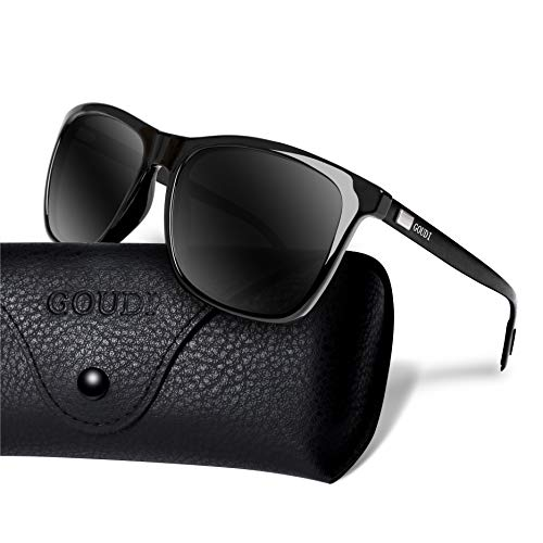 7d158e3d90 Polarized Sunglasses For Men Women-GOUDI Vintage Men Women Sunglasses Al-Mg  Metal Frame