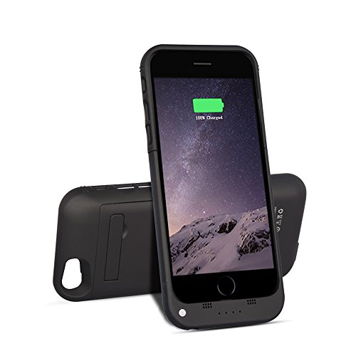 Btopllc Charger Case for iPhone 6 / 6s 3500mAh Power Bank Portable Charger 4.7 inch Charging Case Extended Battery Pack Power Cases for iPhone 6 iPhone 6s - Black