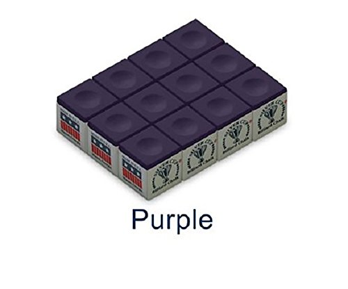 Silver Cup One Dozen Purple Pool Cue Chalk