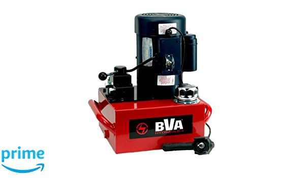 BVA Hydraulics PEW1002T 1.0 HP Electric Motor with Pendant Switch 3-Way Control Valve, 2 Gallon: Amazon.com: Industrial & Scientific