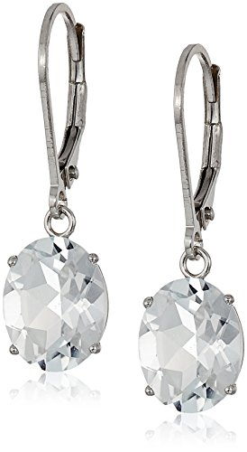 White Topaz Dangle Earrings ()
