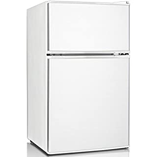 Keystone KSTRC312CW Compact 2-Door Refrigerator/Freezer, 3.1 Cubic Feet, White (B00MPZRZCE) | Amazon price tracker / tracking, Amazon price history charts, Amazon price watches, Amazon price drop alerts
