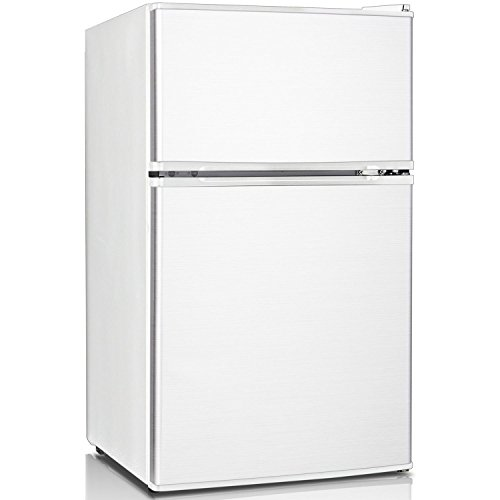 Keystone KSTRC312CW Compact 2-Door Refrigerator/Freezer, 3.1 Cubic Feet, (2 Door Compact Refrigerator Freezer)