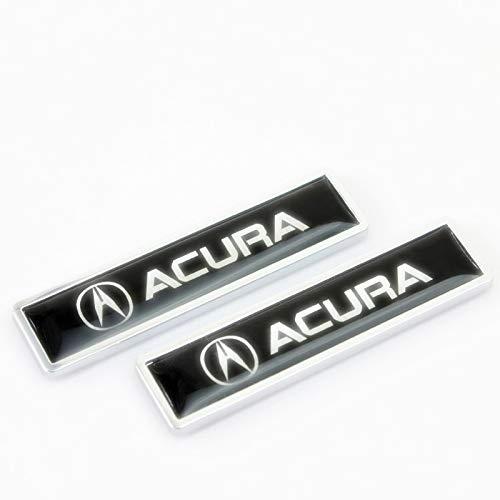 Acura Emblem - Ycsm 2 Pcs Metal Decorative Logo Badge Sticker Side Fender Badge Sticker (Acura)