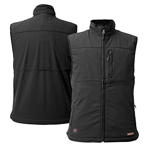 Mobile Warming Men's Vinson Bluetooth Battery Heated Vest 7.4 V, Black, Large