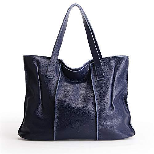 Messenger à Sac cuir 100 sac cuir bandoulière sacs Sentsreny Sacs en Grands Blue véritable Big Femmes à main en Ladies UqXnxw5CZ