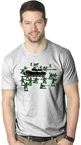 Little Green Army Men T Shirt Vintage Funny Logo Shirts Military Novelty Toy Tee (white) M