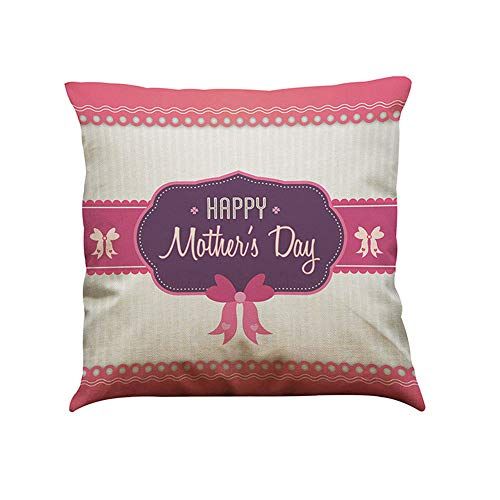 Littay Pillowcase 17inch x 17inch,I Love You Mom Sofa Bed Home Decoration Festival Pillow Case Cushion Cover ()