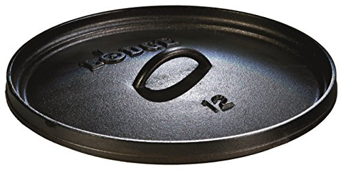 Lodge 8 Quart Camp Dutch Oven. 12 Inch Pre Seasoned Cast Iron Pot and Lid with Handle for Camp Cooking by Lodge (Image #1)