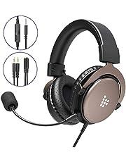 Tronsmart SONO PS4 Headset, Gaming Kopfhörer für Xbox One PC, Professioneller 3.5mm Over-Ear Gaming Headset, Stereo Sound Mikrofon mit Rauschunterdrückung, Intensiven Bässen für Computer Laptop Mac