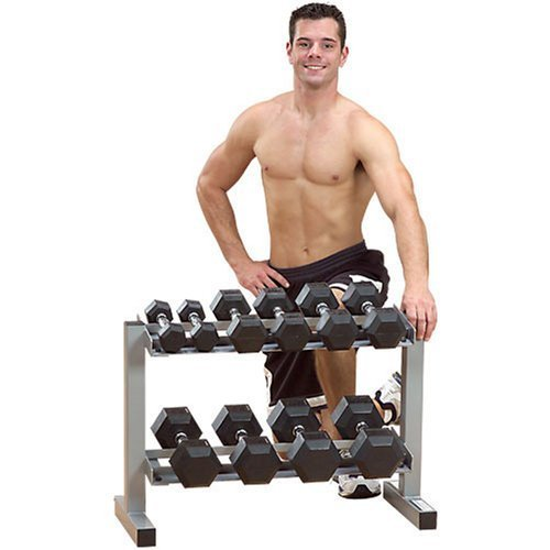 Powerline PDR282X 32-Inch 2-Tier Dumbbell Rack