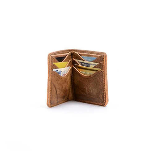 Saddleback Leather Medium Bifold Wallet - Bestselling, RFID-Shielded, Classic Men's, Full Grain (Medium Mens Leather)