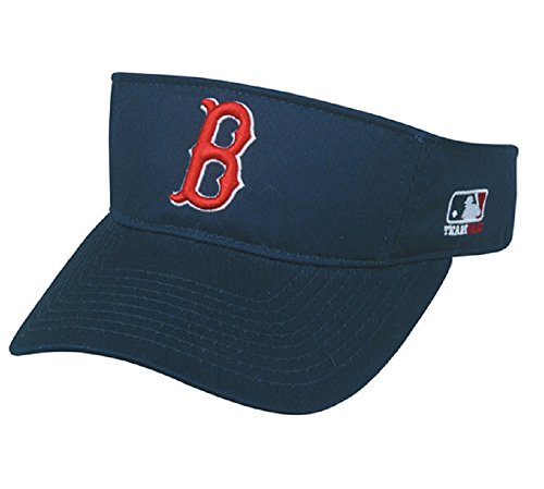 (Boston Red Sox MLB OC Sports Sun Visor Golf Hat Cap Navy Blue w/ Red B Logo Adult Men's Adjustable )