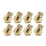 Zerone 8 Pcs Copper Speaker Suspension Spike Set