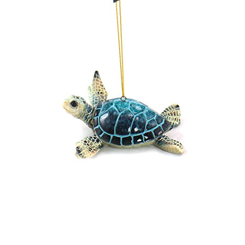 WonderMolly Marine Life Collection Blue Sea Turtle Ornament