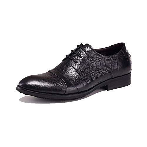 Scarpe in Pelle da Uomo Moda Scarpe Stringate da Uomo Inglesi Business Comfortable Black