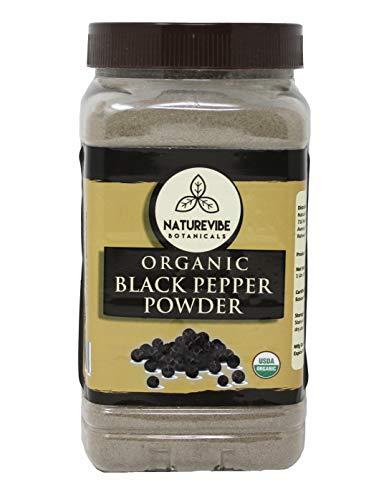 (Malabar Black Pepper (Black Tellicherry peppercorn) Ground, 1 pound - 100% Pure & Natural - USDA Organic Certified)