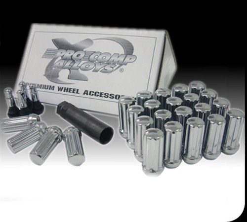 Pro Comp Alloy 21134 Lug Nut Kit; Incl. Lug Bolts/Tool; Size 12x1.50mm; Bolt Pattern 5/6 Lug; Chrome; by Pro Comp Alloys
