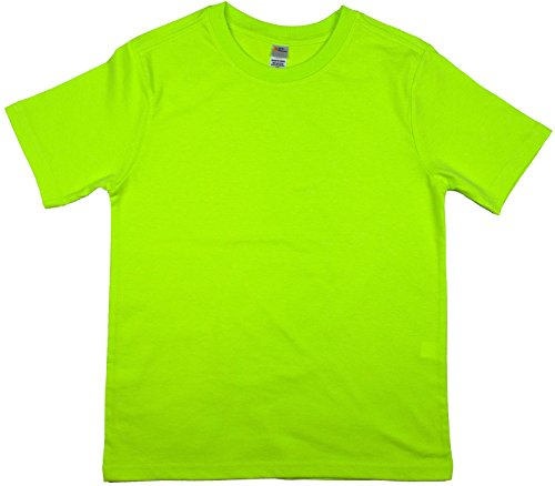 Ladies V-neck 1x1 Rib T-shirts - Earth Elements Big Kid's (Youth) Short Sleeve T-Shirt Extra Large Neon Green