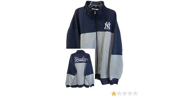 75292c4a0a9 Amazon.com   VF New York Yankees MLB Majestic 2-Tone Track Jacket Men s Big    Tall Sizes (MT)   Sports   Outdoors