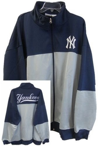 VF New York Yankees MLB Majestic 2-Tone Track Jacket Men's Big & Tall Sizes (MT)