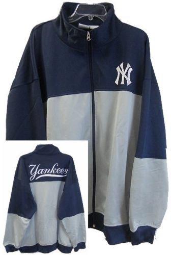 (VF New York Yankees MLB Majestic 2-Tone Track Jacket Men's Big & Tall Sizes (MT))