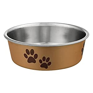 Loving Pets Metallic Bella Bowl, Small, Champagne (7454)