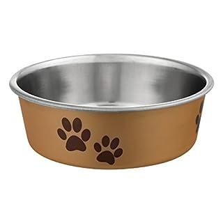 Loving Pets Metallic Bella Bowl, Small, Champagne
