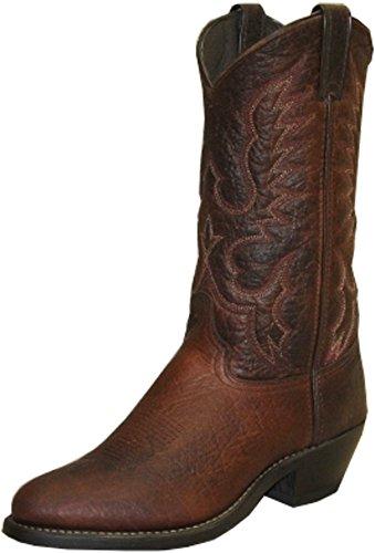 (Abilene Boots Mens Brown Bison Cowboy Western 9EE )