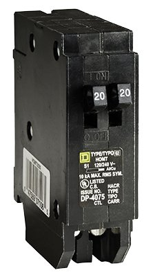 Homeline Tandem Circuit Breaker 20/20 Amp Bulk