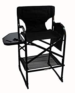 world outdoor products new lightweight presidential edition tall directors chair side table with. Black Bedroom Furniture Sets. Home Design Ideas