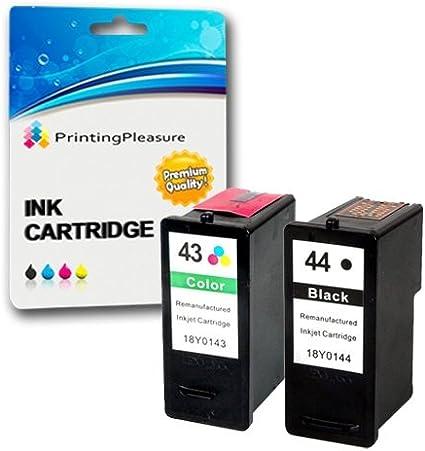 Printing Pleasure 2 Compatibles Lexmark 44XL & 43XL Cartuchos de ...