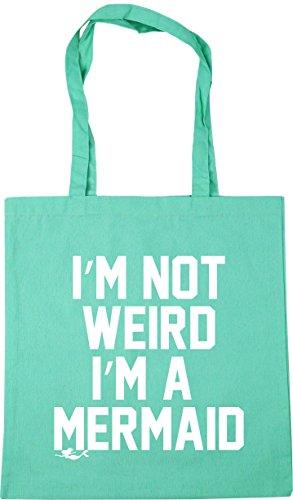 not litres Beach Shopping Mint weird a I'm x38cm mermaid Tote I'm HippoWarehouse 10 Bag 42cm Gym 5z06nqxB1w