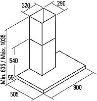 Cata - Modelo Beta 900 extracción, Campana extractora Cocina 850m3/h-340m3/h , Acabado en Acero Inoxidable, 280 W, 67 Decibelios, 3 Velocidades: 183.58: Amazon.es: Grandes electrodomésticos
